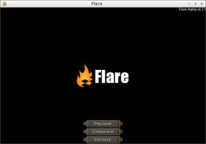 Flare V0.17 タイトル画面