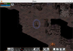 Flare V0.17 Caves Level1にて